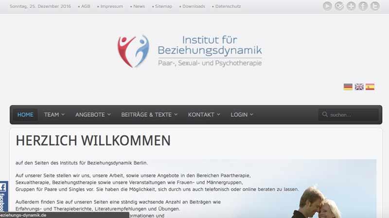 Website vor dem Relaunch (Neuauflage)
