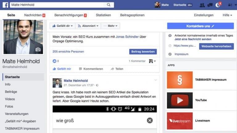 Für viele ist Facebook sehr unübersichtlich (siehe Bild). Wir haben nach vielen Jahren Erfahrung unsere Routinen!