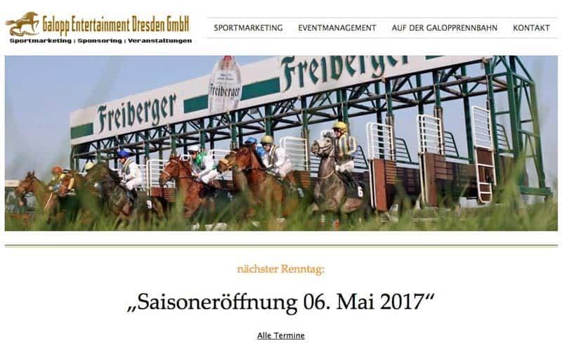 Galopp Entertainment Dresden Website