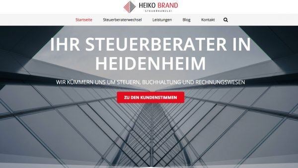 Steuerberater Heidenheim Website & Landingpages