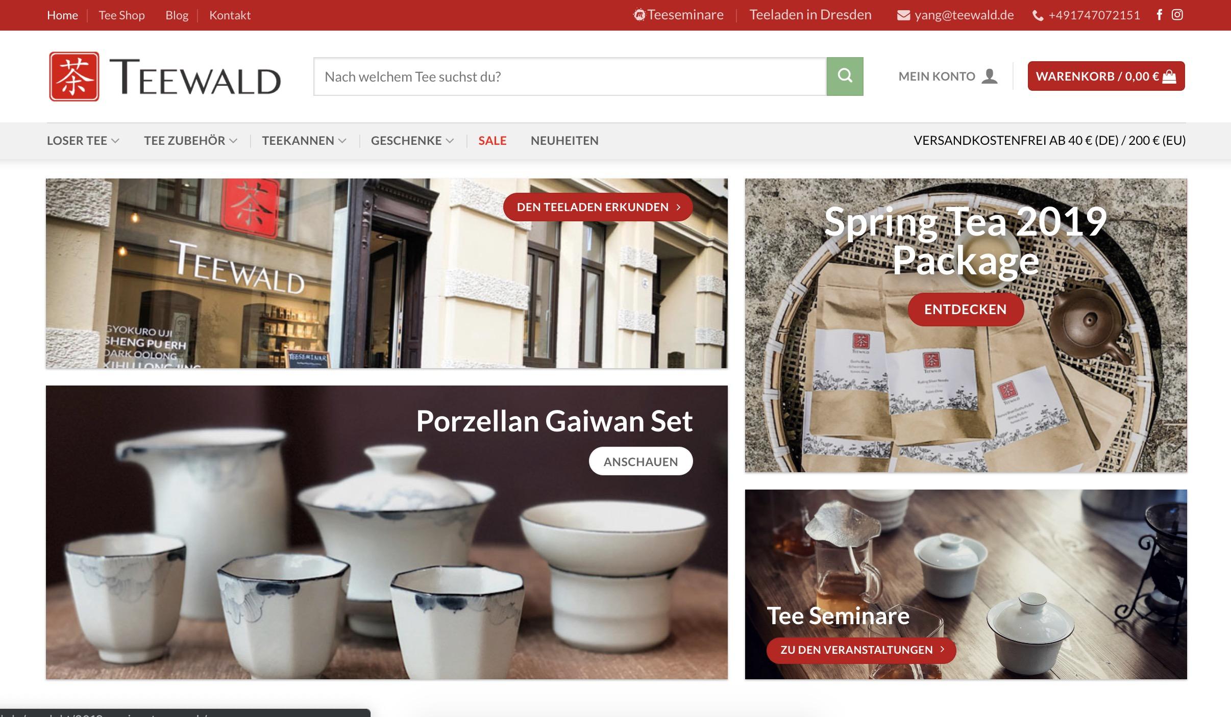 teewald onlineshop 2019