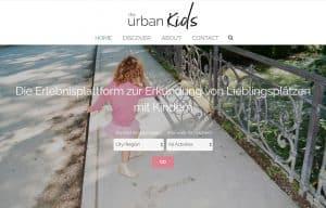 Screenshot von der Startseite theurbankids.com