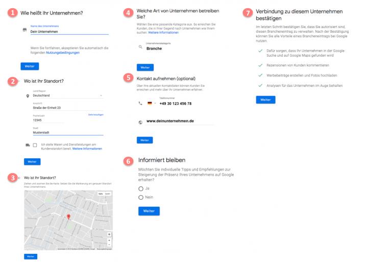 Google My Business die ersten Schritte