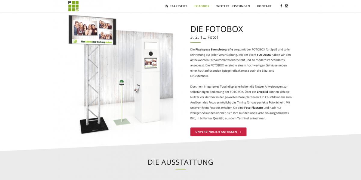 Die individuell erweiterbare und moderne Fotobox kann bei Pixelspass ohne großen Hürden gemietet werden.