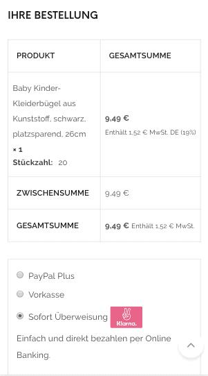 Die Famyshop Bestellungsübersicht und Kassenseite wurden von uns für mobile Geräte optimiert