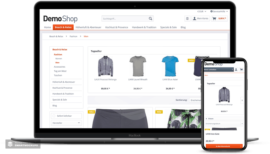 shopware responsive layout