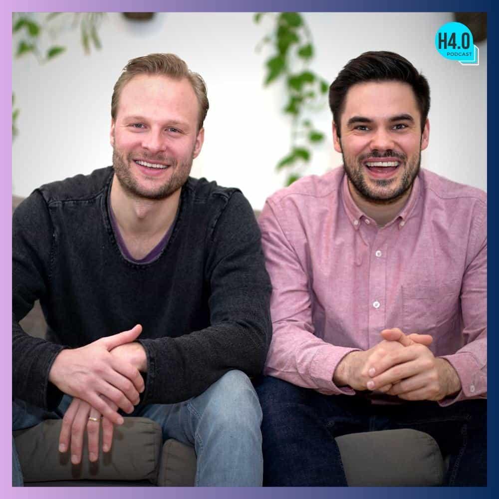 Jonas Schindler (links) und Malte Helmhold (rechts) im Handel4.0 Podcast